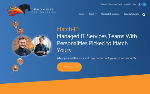 Screenshot of Home Page pegasustechnologies.com - Managed IT Services Provider & Information Technology Consulting - captured Nov. 4, 2018
