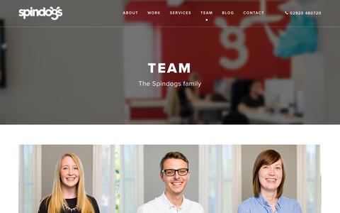 Screenshot of Team Page spindogs.co.uk - Team - captured Jan. 13, 2016