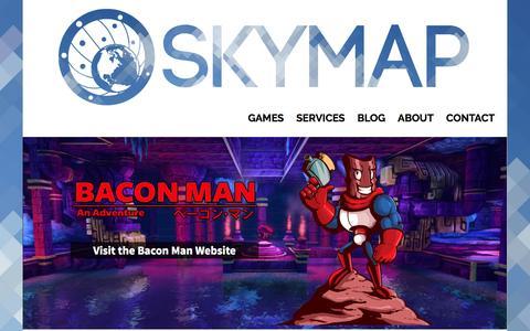 Screenshot of Home Page skymapgames.com - Skymap Games   Reach for the skies. - captured Aug. 4, 2016