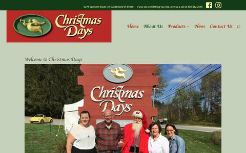 Screenshot of About Page xmasdays.com - About Us - Christmas Days - captured July 2, 2018