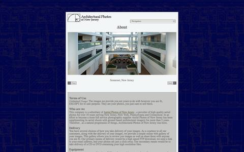Screenshot of About Page Terms Page archofnj.com - Architectural Photos of New Jersey serving NJ, NY, CT, PA, DE - About Us - captured Oct. 23, 2014