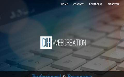 Screenshot of Home Page dh-webcreation.be - DH Webcreation | Webdesign, Webshop, Hechtel, Eksel, Peer, Limburg, België - captured Sept. 11, 2015
