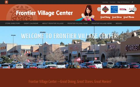 Screenshot of Home Page frontier-village.com - Frontier Village Center | Prescott, Arizona | shopping, dining and entertainment. - captured Sept. 13, 2015