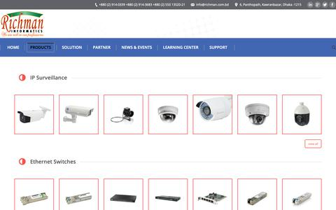 Screenshot of Products Page richman.com.bd - Products – Richman Informatics - captured Oct. 18, 2018