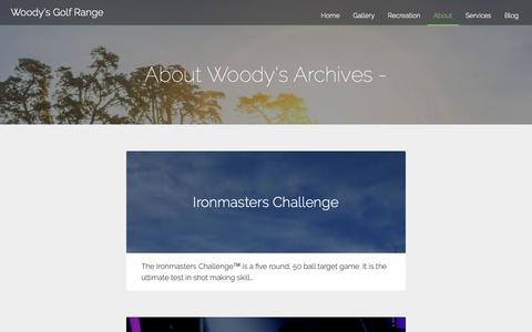 Screenshot of About Page woodysgolf.com - About Woody's Archives - Woody's Golf Range - captured Oct. 20, 2018