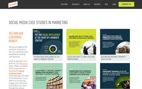 Screenshot of Case Studies Page sysomos.com - Social Media Marketing Case Studies | Sysomos - captured Dec. 3, 2015