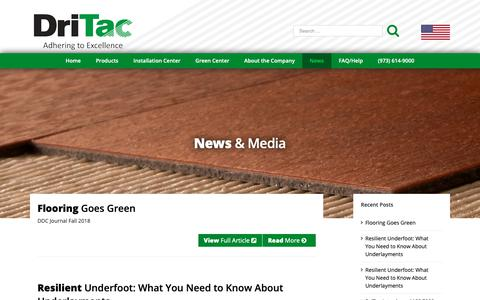 Screenshot of Press Page dritac.com - Commercial, Industrial & Residential Flooring Industry News - DriTac - captured Oct. 9, 2018