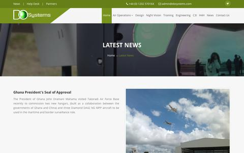 Screenshot of Press Page dosystems.com - Airborne ISR - DO Systems Ltd - captured Oct. 11, 2017