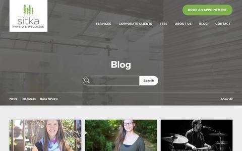 Screenshot of Blog sitkaphysio.com - Blog | Sitka Physio & Wellness - captured Oct. 18, 2018
