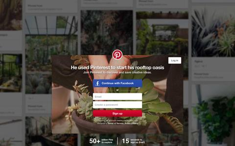 Screenshot of Home Page pinterest.com - Pinterest: Discover and save creative ideas - captured Jan. 20, 2016