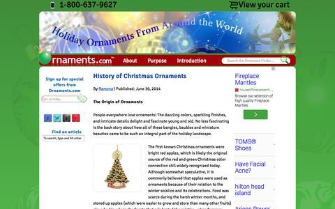 Screenshot of Blog ornaments.com - Ornaments News and Reviews - captured Oct. 7, 2014