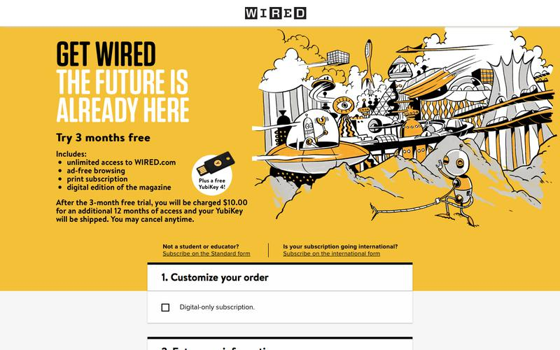 WIRED Student Subscription