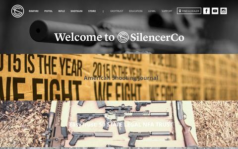 Screenshot of Blog silencerco.com - Blog - SilencerCo - captured Jan. 1, 2016