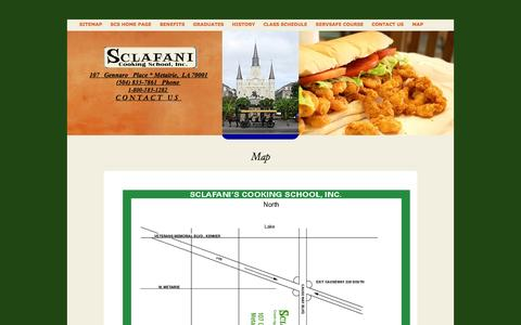 Screenshot of Maps & Directions Page sclafanicookingschool.com - Map - captured Oct. 4, 2014