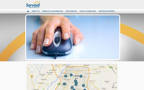 Screenshot of Locations Page servaid.com.pk - LOCATIONS - captured Oct. 26, 2014