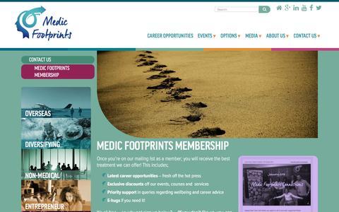 Screenshot of Signup Page medicfootprints.org - Medic Footprints Membership - Medic Footprints - captured Aug. 10, 2016