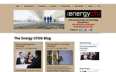 Screenshot of Blog theenergycfo.com - The Energy CFO Blog - captured Nov. 30, 2016