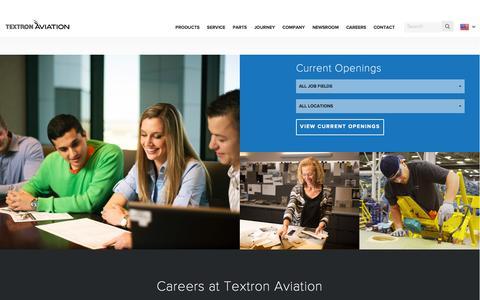 Screenshot of Jobs Page txtav.com - Careers - captured Feb. 25, 2016