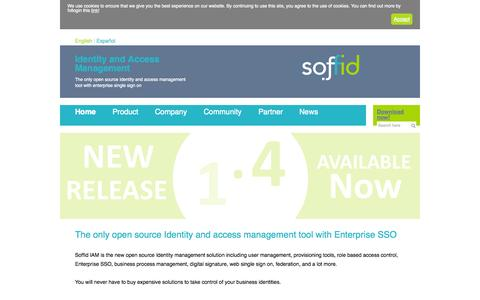 Screenshot of Home Page Terms Page soffid.com - Soffid IAM Identity and Access Management - captured Sept. 30, 2014