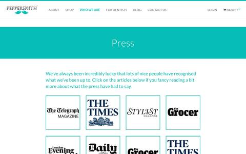 Screenshot of Press Page peppersmith.co.uk - Press - Peppersmith - captured May 15, 2017