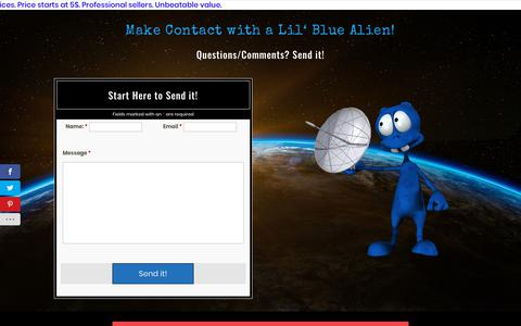 Screenshot of Contact Page seo-alien.com - Contact Us - SEO-Alien - captured Aug. 22, 2019