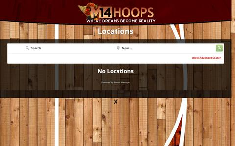 Screenshot of Locations Page m14hoops.com - Locations - M14Hoops Basketball - captured Nov. 5, 2018