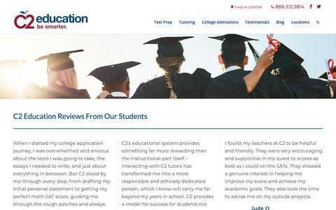 Screenshot of Testimonials Page c2educate.com - Reviews | C2 Education - captured Oct. 4, 2018