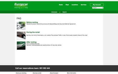 Screenshot of FAQ Page europcar.com.pl - FAQ - captured July 15, 2017