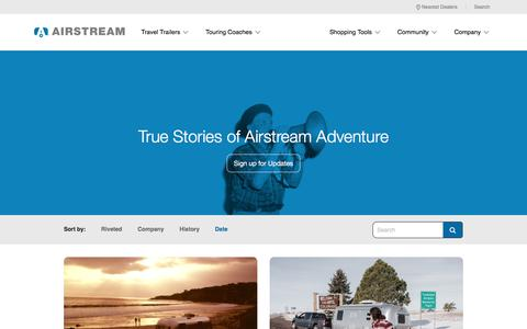 Screenshot of Blog airstream.com - Blog | Airstream - captured Feb. 3, 2018