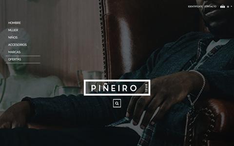 Screenshot of Home Page pineirosport.com - Piñeiro tu tienda de deporte - captured March 25, 2017