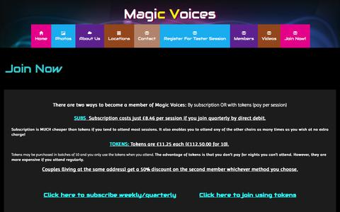Screenshot of Signup Page magicvoices.co.uk - Magicvoices - Join - captured Dec. 9, 2015
