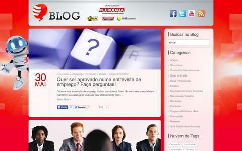 Screenshot of Blog eurodata.com.br - Blog do Grupo Eurodata | Blog do Grupo Eurodata - captured Sept. 19, 2014