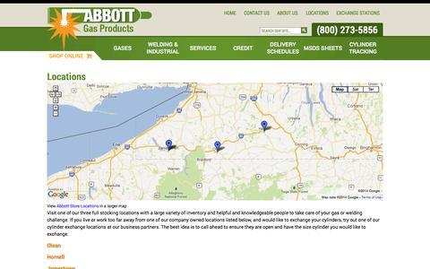 Screenshot of Locations Page abbottgp.com - Locations - captured Oct. 4, 2014