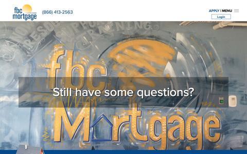 Screenshot of Contact Page fbchomeloans.com - FBC Mortgage, LLC - captured June 23, 2018