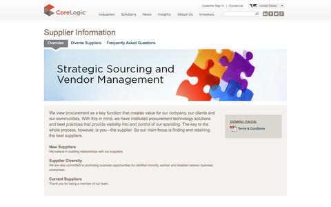 CoreLogic | Supplier Information