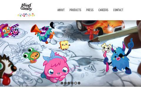 Screenshot of Home Page mindcandy.com - Mind Candy - captured Jan. 30, 2019