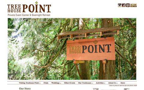 Screenshot of About Page treehousepoint.com - TreeHouse Point - captured Jan. 16, 2016
