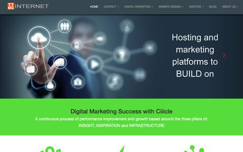 Screenshot of Home Page ttmginternet.com - Digital Marketing Agency | TTMG Internet Digital Marketing Agency - captured Oct. 11, 2017