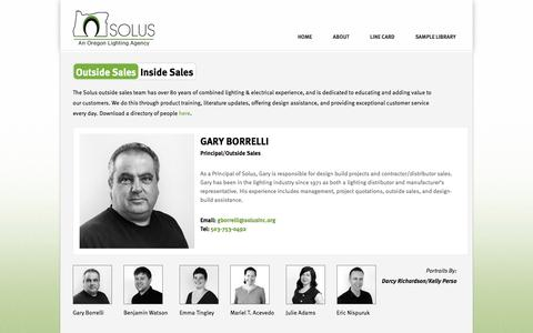 Screenshot of Team Page solusinc.org - People | Solus, Inc. - captured Dec. 3, 2016
