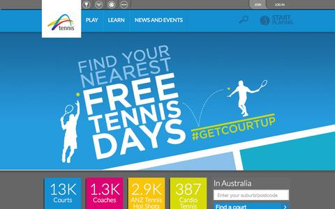 Screenshot of Home Page tennis.com.au - Tennis Australia - The governing body for tennis in Australia - captured Oct. 6, 2015
