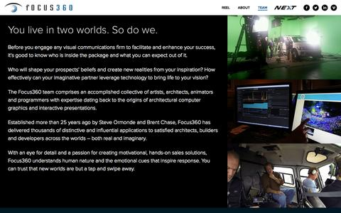 Screenshot of Team Page focus360.com - Focus 360 - Team - captured Oct. 29, 2014