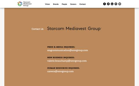 Screenshot of Contact Page smvgroup.com - Contact Us | Starcom Mediavest Group (SMG) - captured Jan. 12, 2016
