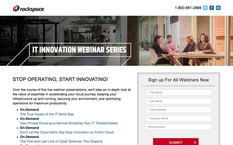 IT Innovation Webinar Series
