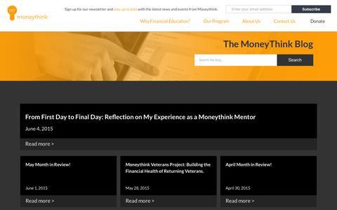 Screenshot of Blog moneythink.org - Blog | Moneythink : Moneythink - captured June 16, 2015