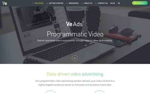 Programmatic video - Ve Interactive North America