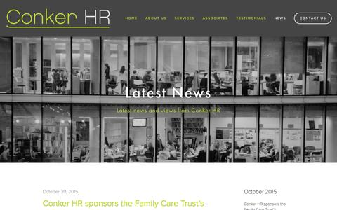 Screenshot of Press Page conkerhr.com - News — Conker HR - captured Jan. 30, 2016