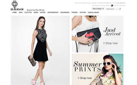Screenshot of Home Page elilhaam.com - elilhaam.com | Luxury Shopping - captured Aug. 5, 2016