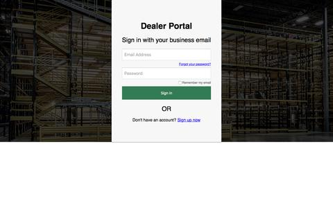 Screenshot of Login Page b2clogin.com - Steel King Industries, Inc. - captured Sept. 20, 2019
