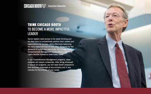Screenshot of Landing Page chicagobooth.edu - Executive Education at Chicago Booth | Management Courses - captured May 11, 2018