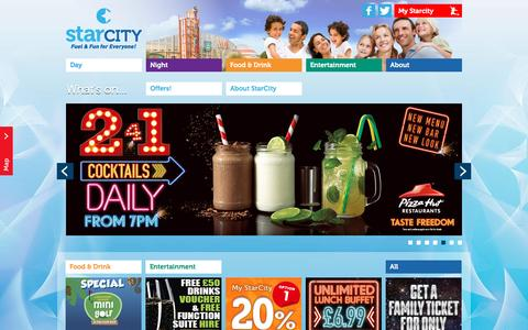 Screenshot of Home Page starcitycentre.co.uk - StarCity :: Day - captured June 11, 2016